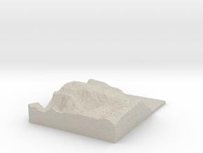 Model of Nybbesteinneset in Natural Sandstone