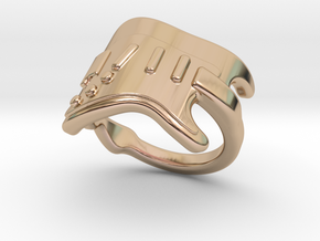 Electric Guitar Ring 26 - Italian Size 26 in 14k Rose Gold Plated