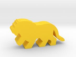 Game Piece, Lion Walking in Yellow Processed Versatile Plastic