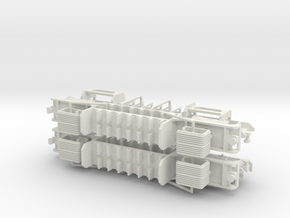N.04A - A Set Waratah Cab Combo Chassis - Part B in White Strong & Flexible