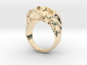 The Original Jawless Skull Ring in 14K Yellow Gold