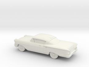1/87 1958 Chevrolet Impala Coupe in White Natural Versatile Plastic