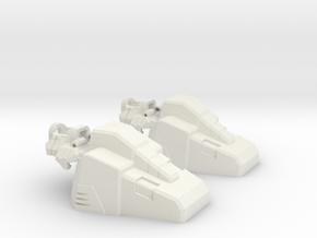 Aerial Team Combiner Slippers in White Natural Versatile Plastic