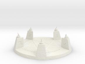 28mm/32mm Demon Summoning Circle Large in White Natural Versatile Plastic