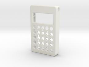 PO case front in White Natural Versatile Plastic