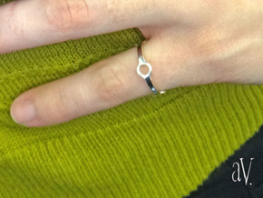 Four Ring Ring in Natural Silver: 5 / 49