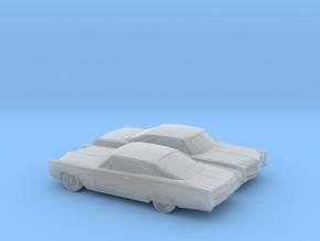 1/160 2X 1966 Pontiac Bonneville Coupe in Smooth Fine Detail Plastic