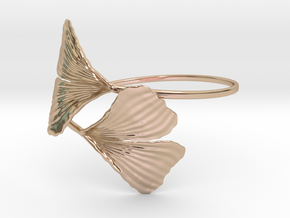 Ginkgo Bracialet in 14k Rose Gold Plated Brass