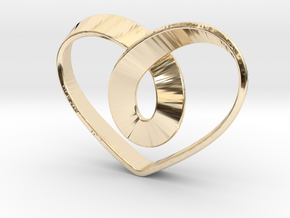 Heart Mobius Strip in 14K Yellow Gold