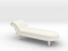 Chaise in White Natural Versatile Plastic