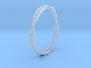 Twisted Hex Ring (Size 7) in Smooth Fine Detail Plastic
