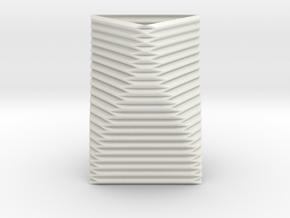 Curved Structure Short Column - Rigid Accordion in White Natural Versatile Plastic