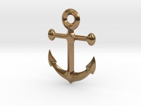 Anchor pendant in Raw Brass