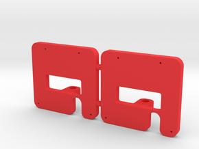 2x Mittelpufferhalter 99 222 V01.5 in Red Processed Versatile Plastic