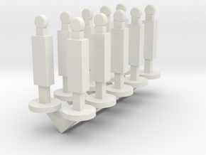 Panel Stanchion Barricade 1-87 HO Scale in White Natural Versatile Plastic