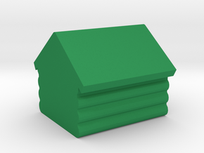 Game Piece, Log Cabin in Green Processed Versatile Plastic