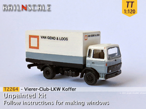 Vierer-Club-LKW Koffer (TT 1:120) in Smooth Fine Detail Plastic