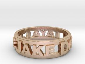Custom 3D Printed Ring (Request Custom Link Below) in 14k Rose Gold