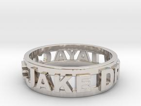 Custom 3D Printed Ring (Request Custom Link Below) in Rhodium Plated Brass