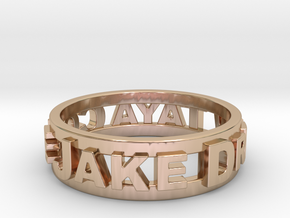 Custom 3D Printed Ring (Request Custom Link Below) in 14k Rose Gold Plated Brass