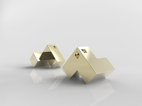 Cube Puzzle Pendant in 14K Yellow Gold