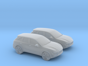 1/120 2X Porsche Cayenne in Smooth Fine Detail Plastic