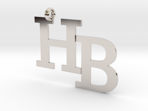 HB charm - Go Bobcats! in Rhodium Plated Brass
