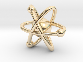 Atom Charm in 14K Yellow Gold