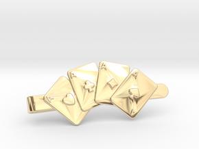 Aces Clip Wallet in 14K Gold
