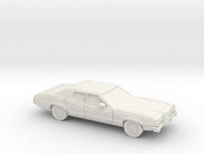 1/87 1972 Mercury Montego Sedan in White Natural Versatile Plastic