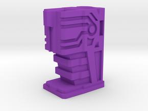 Shockwave gun handle(long) in Purple Processed Versatile Plastic