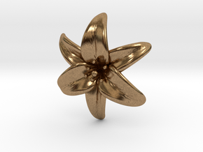 Lily Blossom (small) in Natural Brass