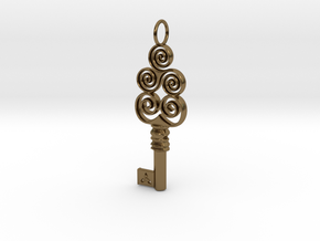 Friggjarlykill #4a  - Key of Frigg in Polished Bronze