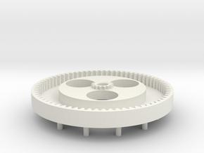 Zahnrad in White Natural Versatile Plastic