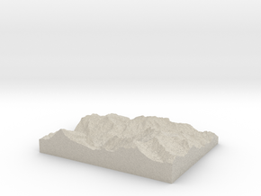 Model of Alpenvogelpark Grindelwald in Natural Sandstone