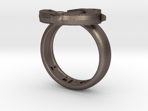 Ahoy Ring (various sizes) in Polished Bronzed Silver Steel