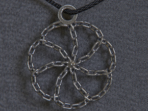 Chain Link Pendant in Polished Silver