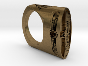 EGYPTIAN RING   in Natural Bronze