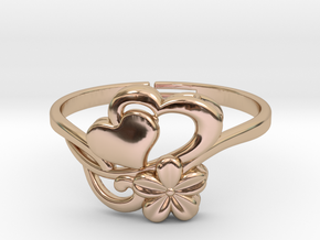 Flower Ring 1  in 14k Rose Gold