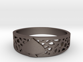 Ace Ring_Web in Polished Bronzed Silver Steel: 7 / 54