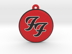 Foo Fighters Logo Pendant / Ornament in Full Color Sandstone