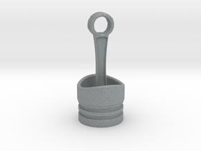 Piston Pendant in Polished Metallic Plastic
