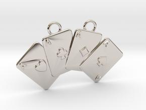 Aces Necklace in Platinum