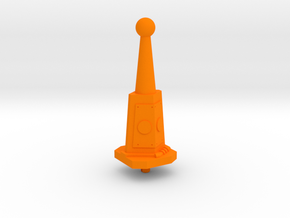 Castle Grayskull Prototype Turret Cannon Stand in Orange Processed Versatile Plastic