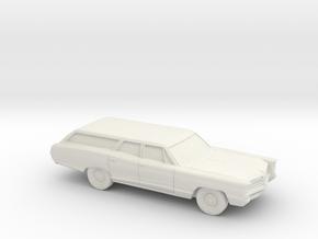 1/87 1966 Pontiac Bonneville Station Wagon in White Natural Versatile Plastic
