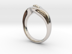 Modern style ring Size 10 in Platinum