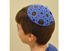 Yarmulke Two in Blue Processed Versatile Plastic