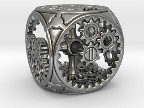 Gears Delirium I - D6 in Natural Silver