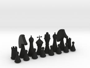 Chess Set in Black Natural Versatile Plastic