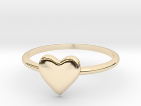 Heart-ring-solid-size-6 in 14K Yellow Gold